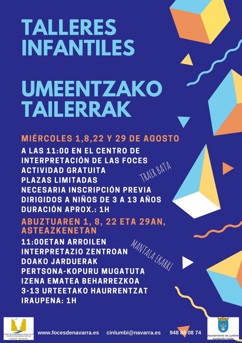 talleres infantiles umeentzako tailerrak Foces de Navarra