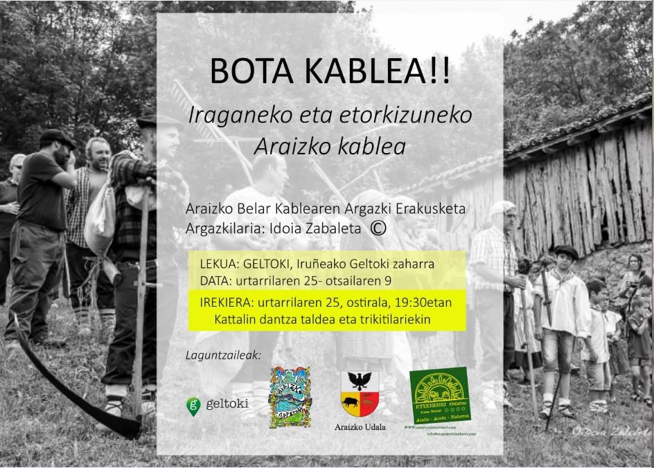 bota kablea los cables de las malloas en la antigua estacion de autobuses araizko kartela