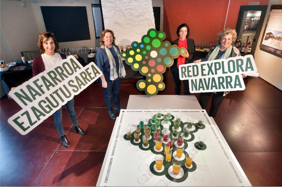 Red explora navarra junto con icono de la nueva web